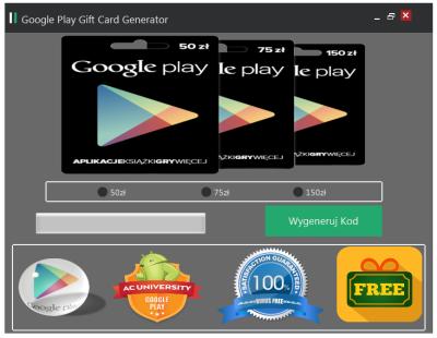 karty upominkowe google play
